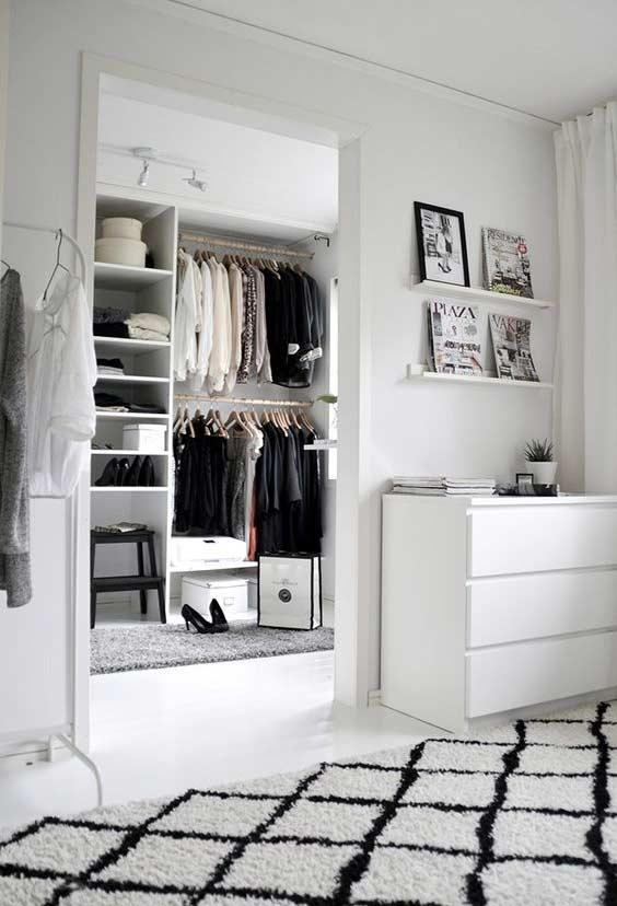 Closet integrado ao quarto