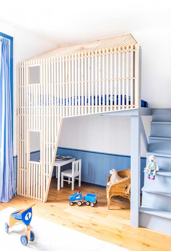 Azul clássico para o quarto de menino