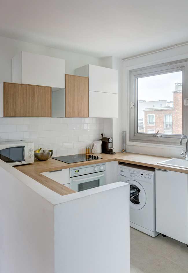 cozinha americana simples 60 ideias fotos e projetos. Black Bedroom Furniture Sets. Home Design Ideas