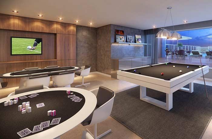 Sala de jogos de luxo