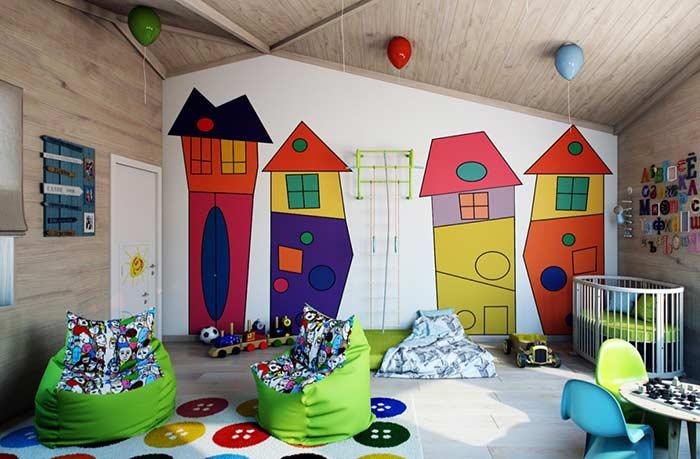 Deixe a sala mais animada com uma decoração especial na parede