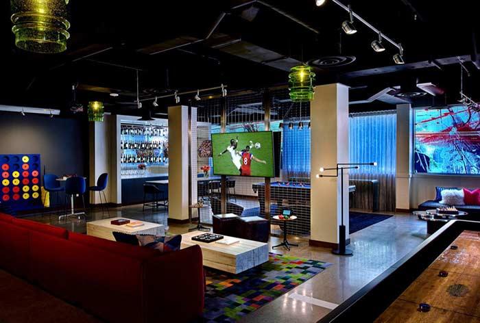 Televisor para acompanhar jogos e esportes