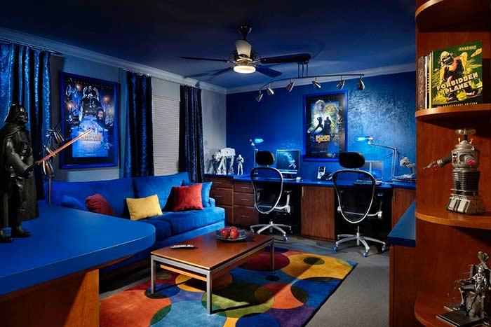 Sala de jogos gamer