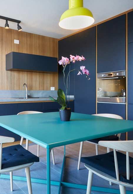 Cozinha: um lugar para um arranjo lindo e delicado