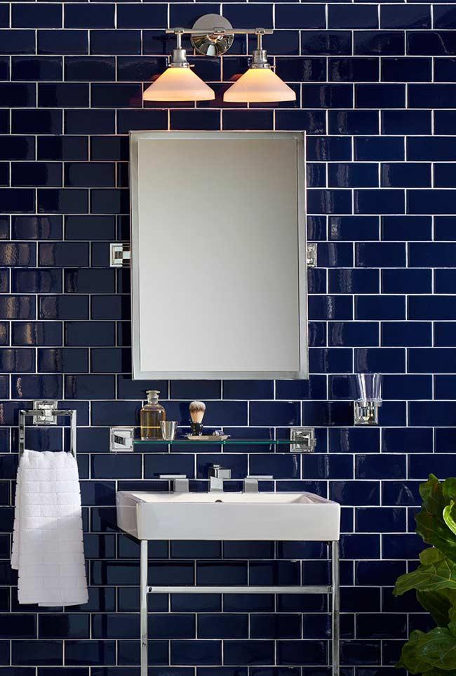 Azulejo subway tiles no banheiro