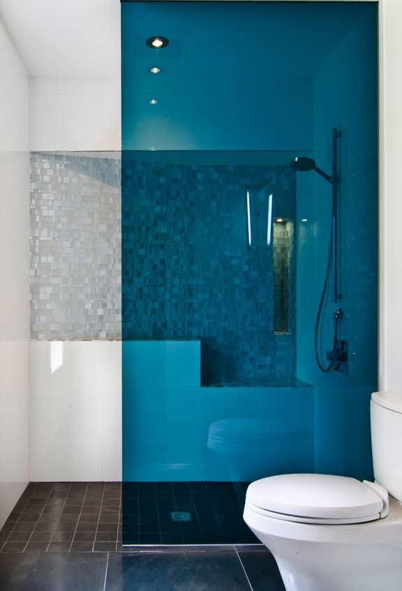 Box de vidro azul
