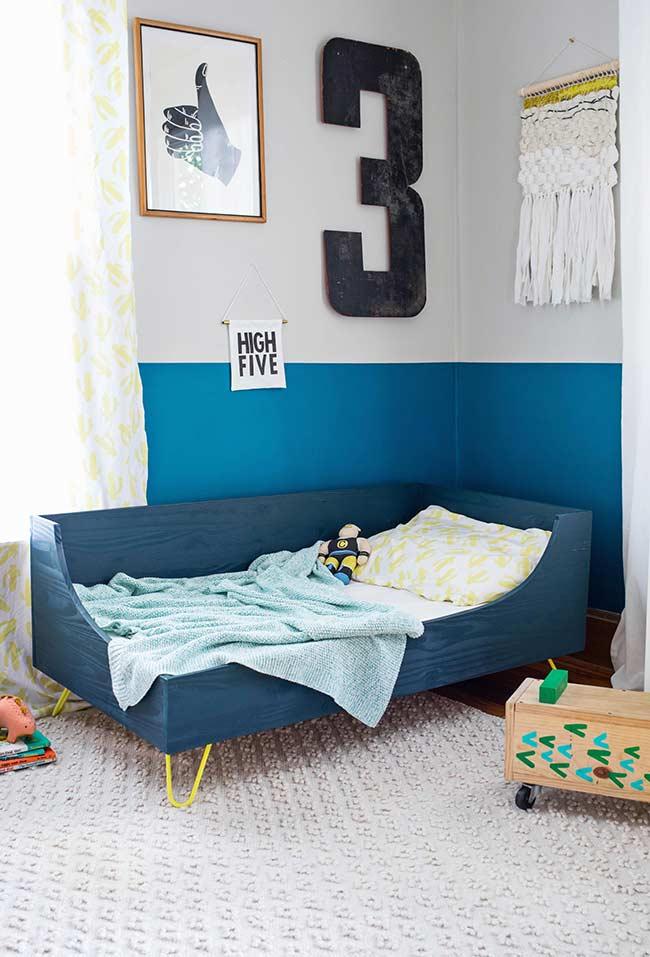 Cama baixa planejada para quarto de criança