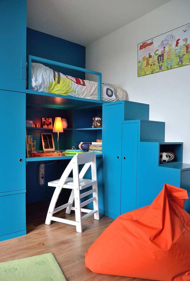 Quarto planejado, criativo e cheio de cores