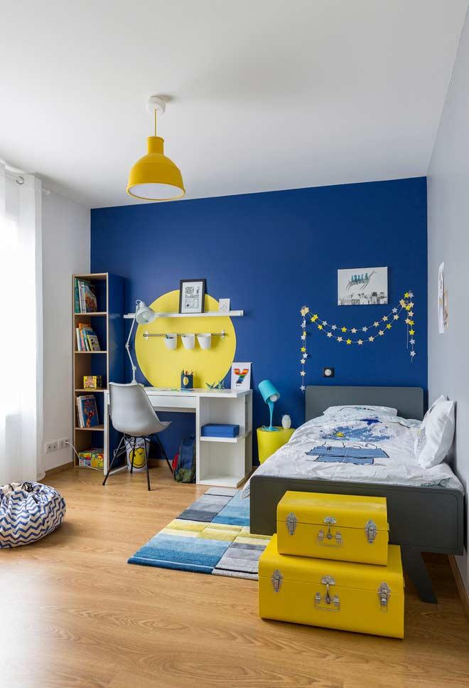 Uma ou duas cores como base da decoração