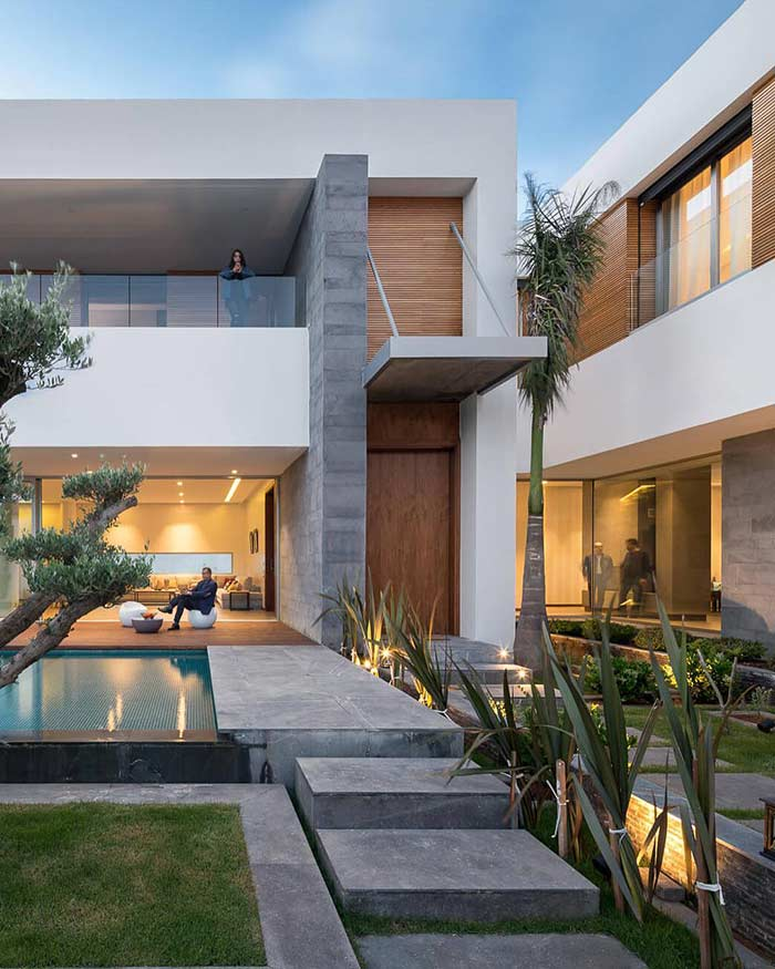 Área de convivência em casa linda