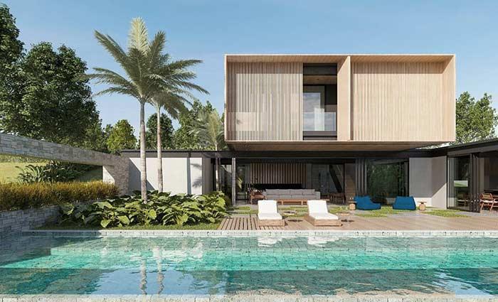 Casa linda com deck para piscina