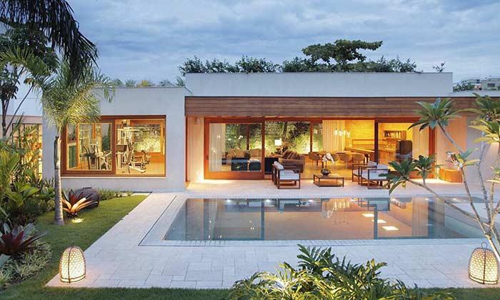 Linda casa com projeto de iluminação