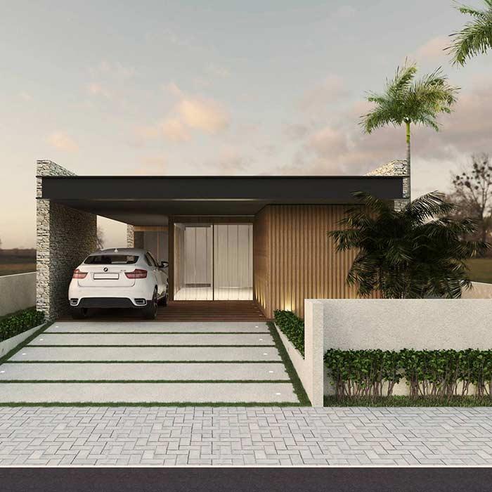 Projeto de casa térrea linda