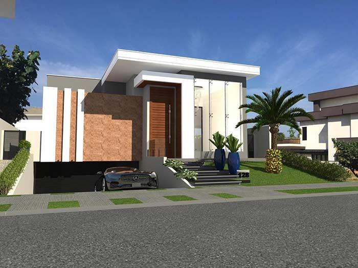 casa linda com projeto paisagístico
