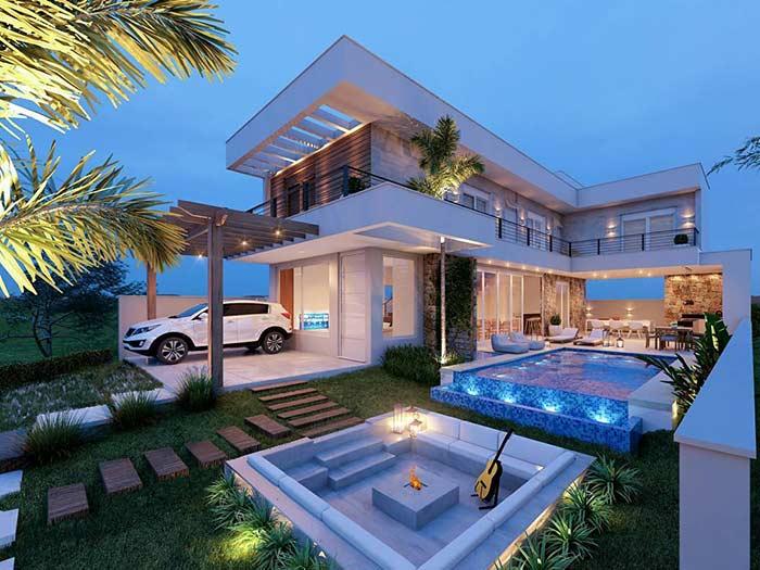 Casa linda em L