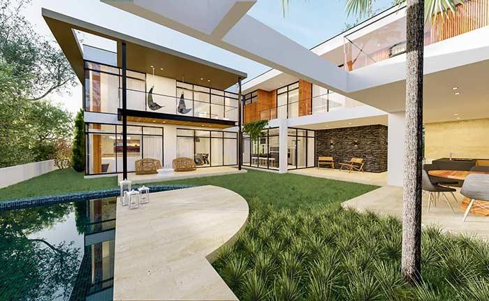 Casa linda com espaço para lazer e piscina
