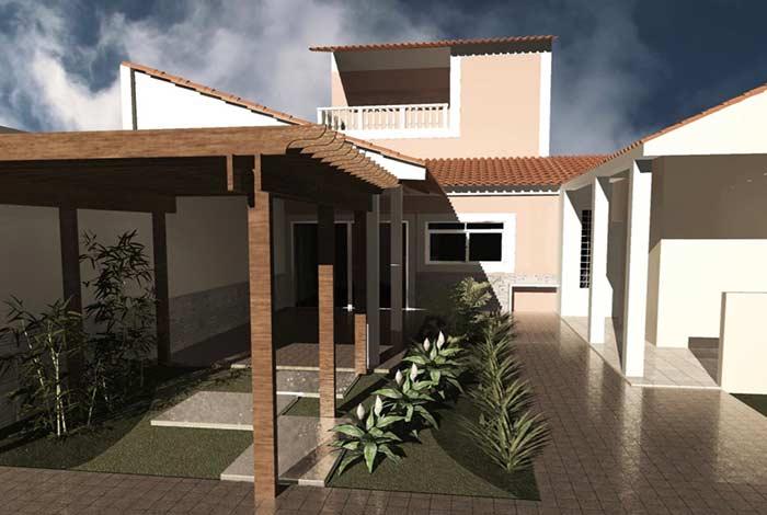 Misture o telhado colonial com outros modelos