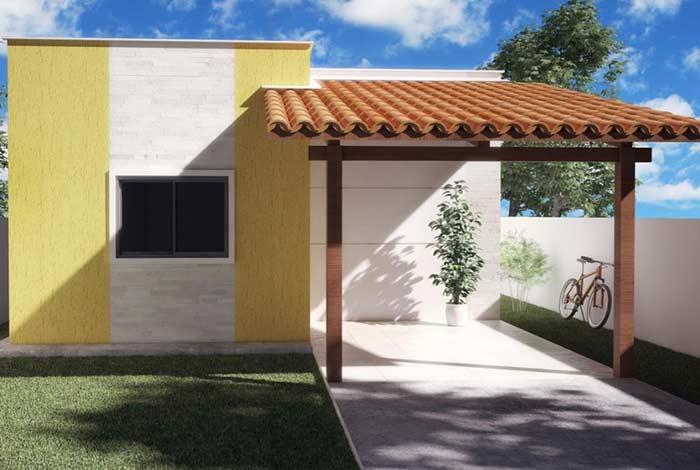 Garagem com telhado colonial