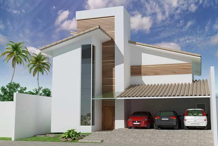 Tradição no material e estilo na fachada