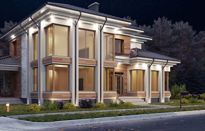 Telhado colonial pode combinar com qualquer estilo de construção