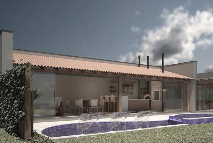 Edícula com telhado colonial