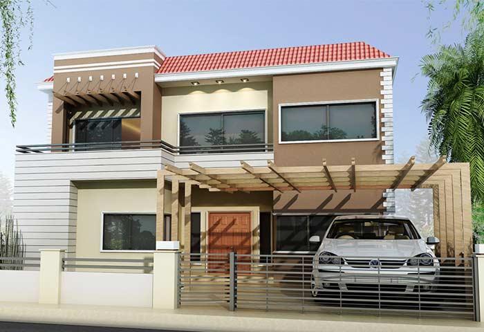 Composição de coberturas em uma mesma construção