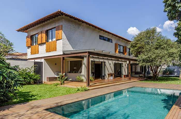 mix de estilos arquitetônicos na residência
