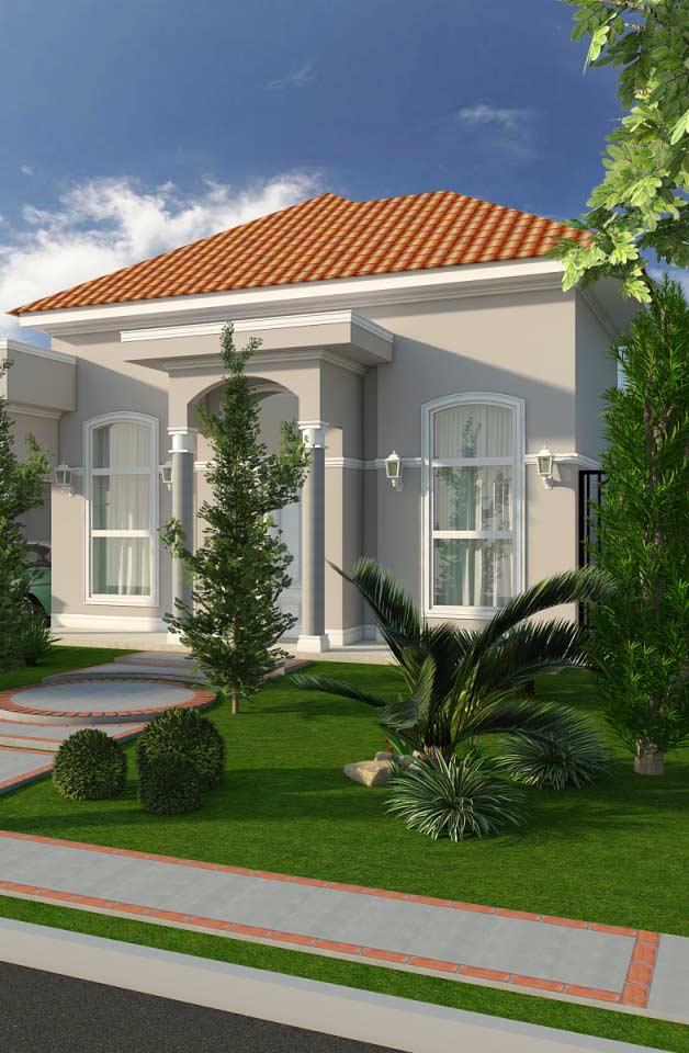Estilos mesclados: fachada de casa clássica com telhado colonial