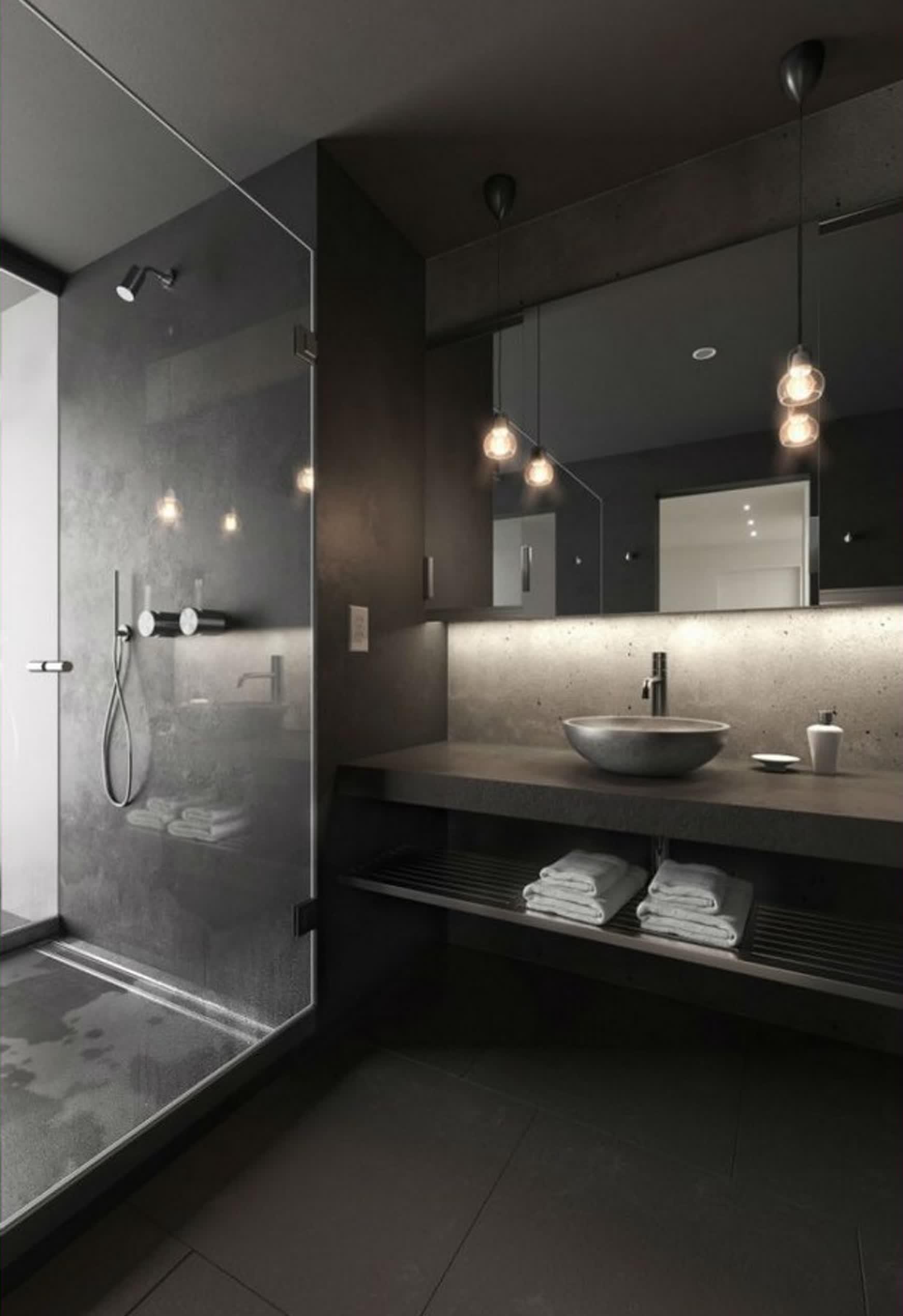 Banheiro masculino luxuoso