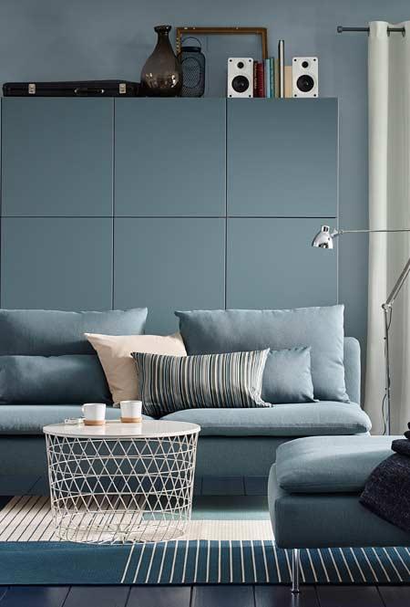 Azul claro para sala