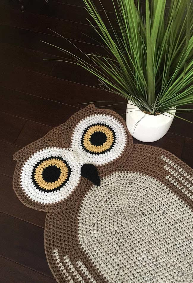 Tapete de coruja decorada e geométrica