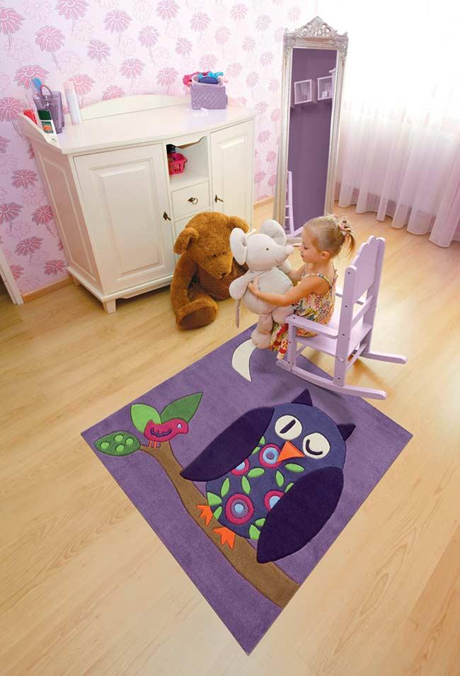 Tapete de coruja para quarto infantil