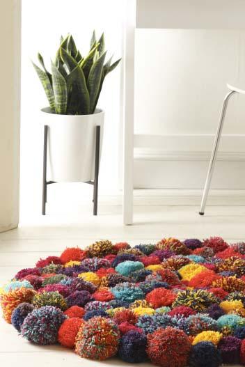 Um tapete charmoso para a sala