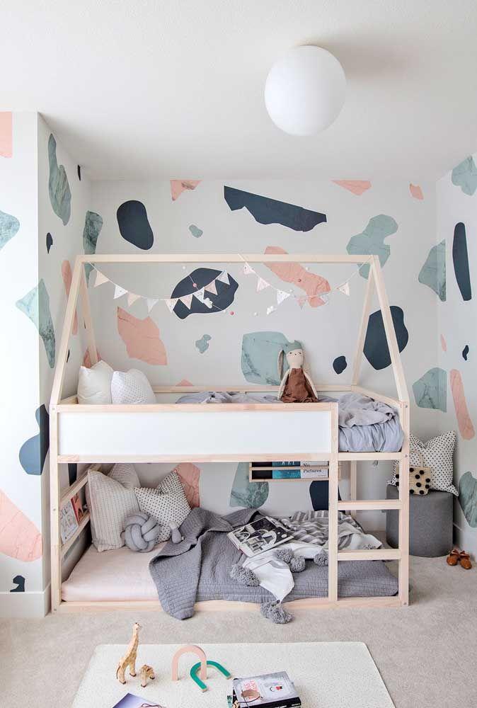 De quantas camas o quarto precisa? Quatro? Então inspire-se nesse modelo de beliche