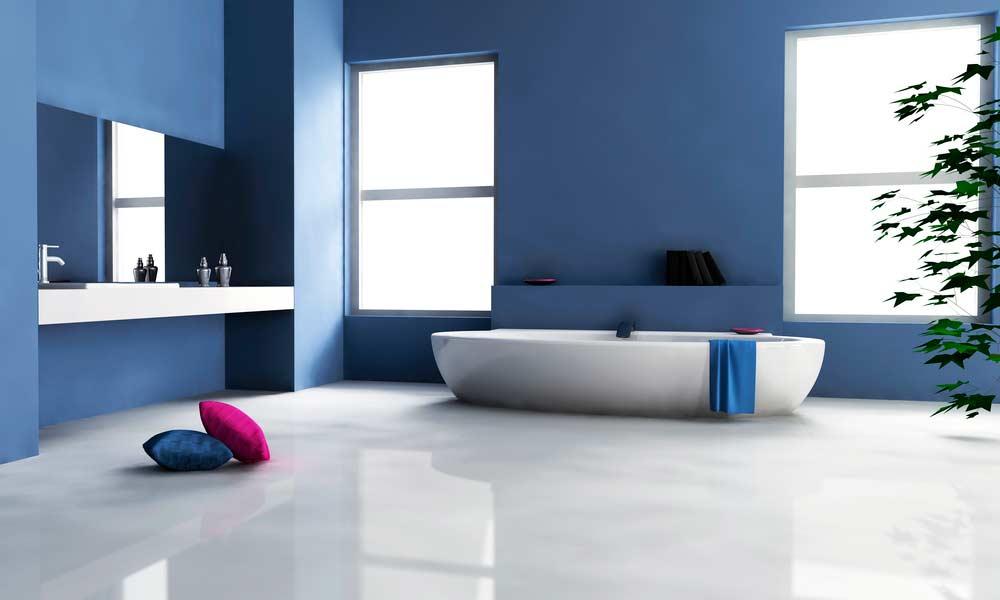 Banheiro azul - exemplo