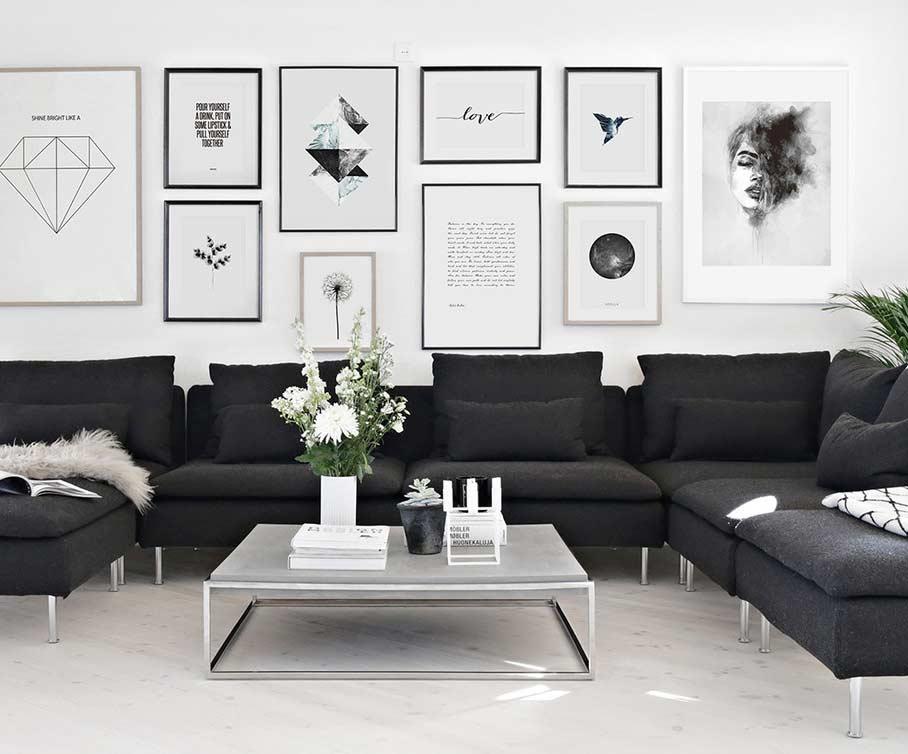 Sofá preto: 50 modelos com fotos e como decorar