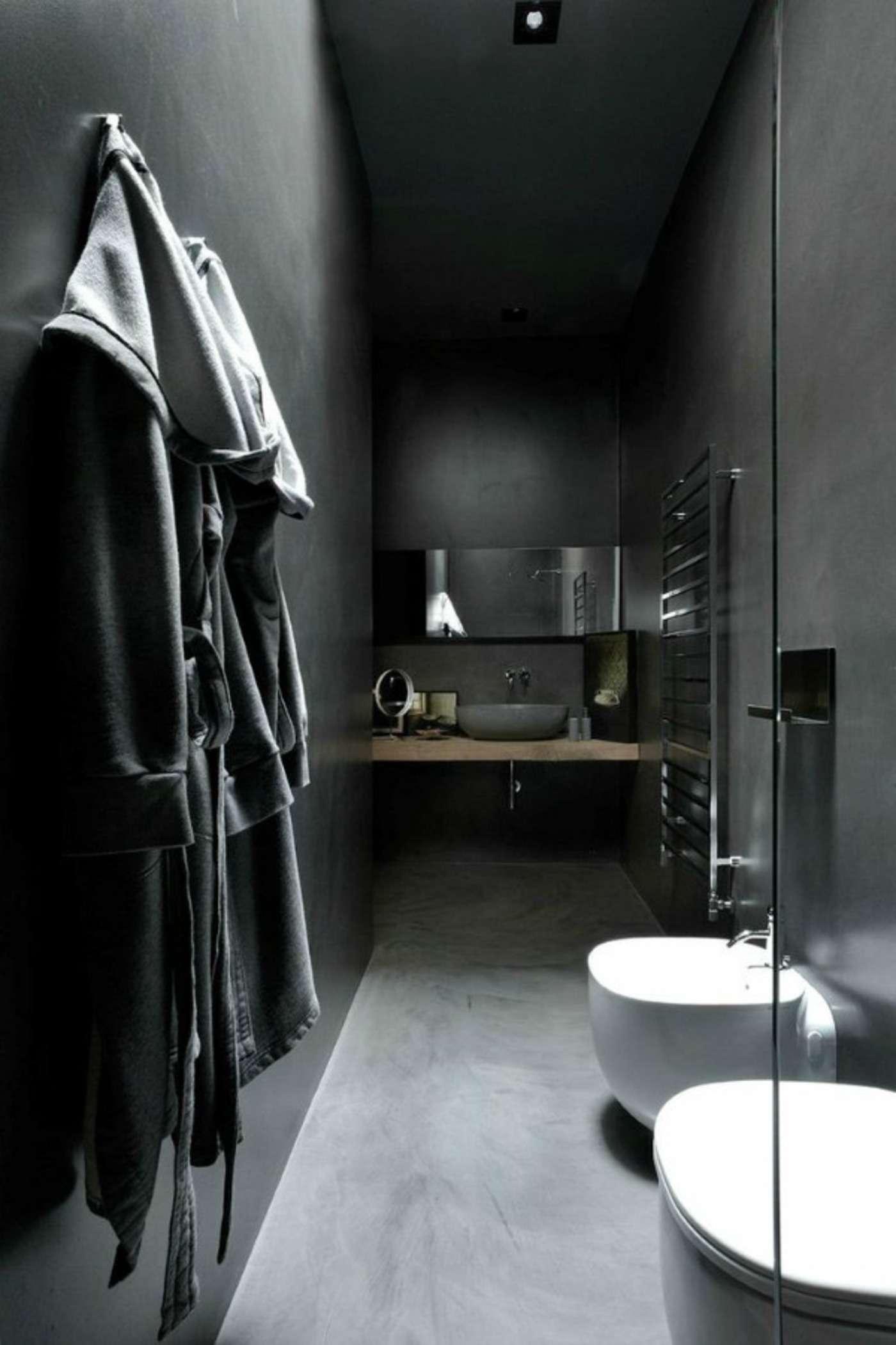 Estilo minimalista e industrial para o banheiro