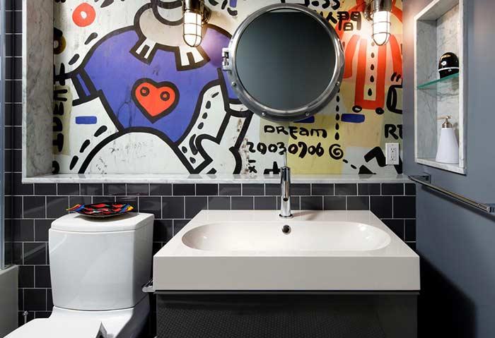 Traga o estilo urban art para dentro do banheiro
