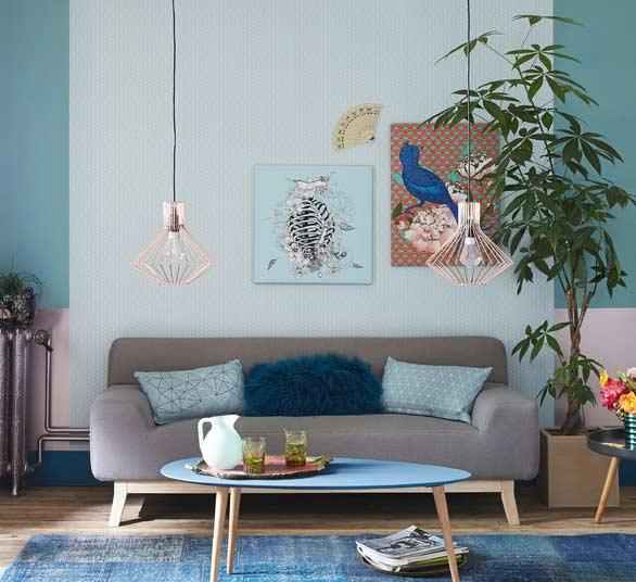 60 Salas Com Sofá Vermelho Incríveis: Sala Azul: 60 Ideias Incríveis De Decoração Com A Cor