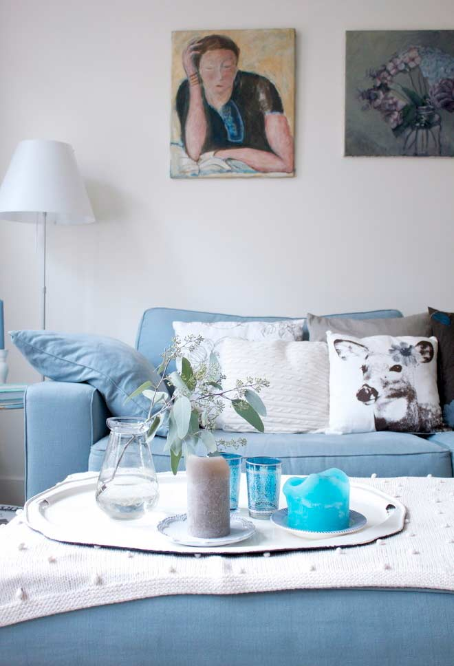 Sofá azul bebê: sucesso na decoração da sala