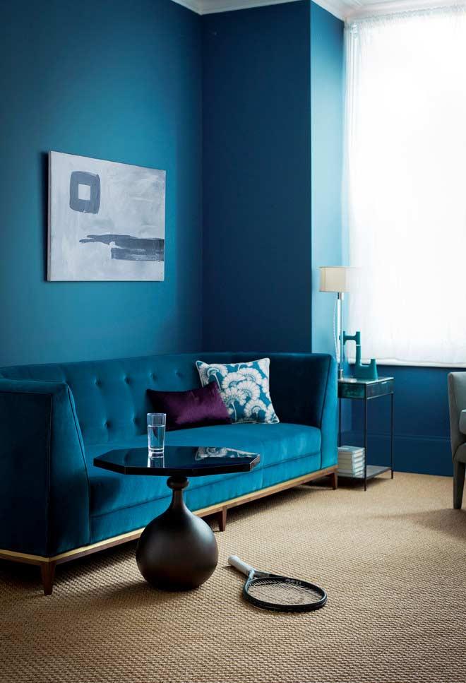 O roxo é outra cor que combina muito bem com o azul