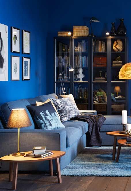 Azul royal para incentivar a concentração