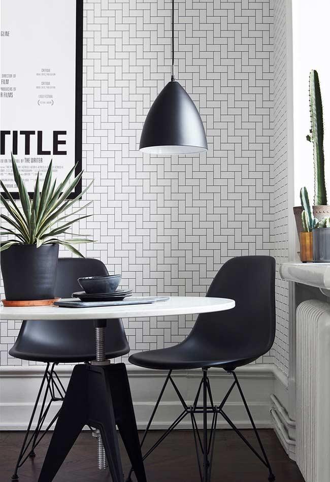 Papel de parede preto e branco