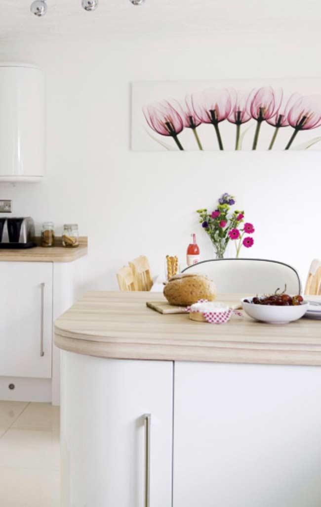 Quadro para cozinha com flores
