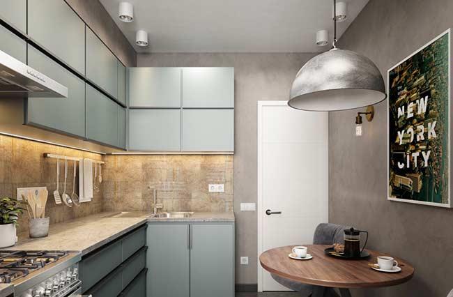 Quadro com motivos urbanos para uma cozinha com o estilo industrial