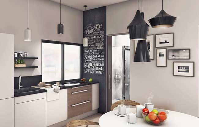 Orientação diferente para dispor os quadros para cozinha