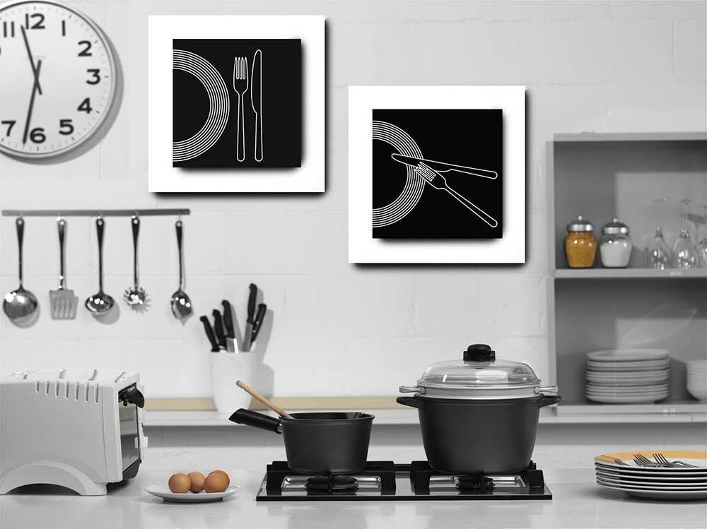 Deixe o ambiente da cozinha mais descontraído com quadros