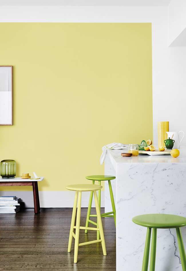 Amarelo claro e verde limão
