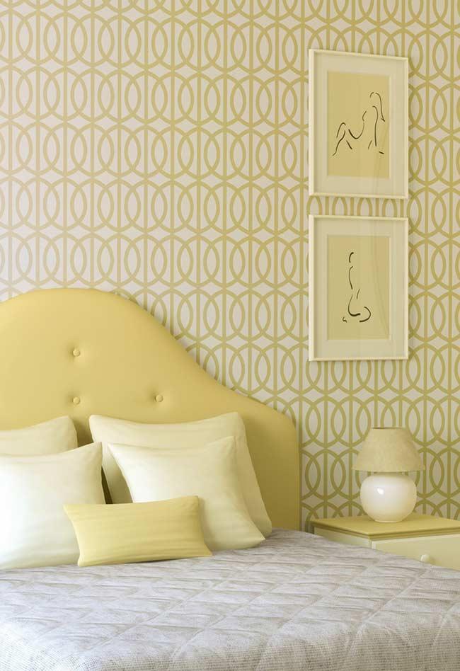 Ambiente relaxante com amarelo claro