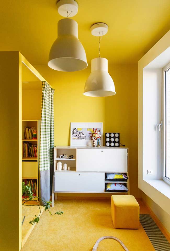Amarelo vibrante na decoração